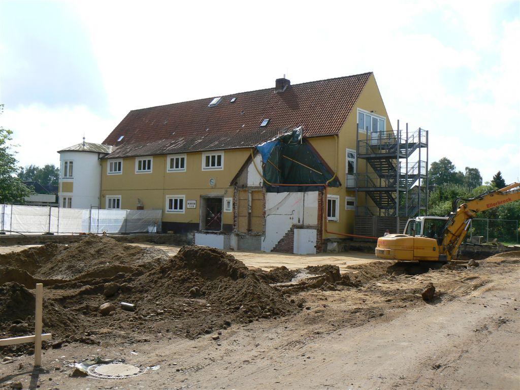 August 2012: Die Sohle ist fast fertig.